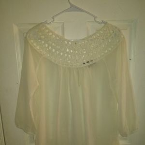 Umgee Women's Sheer Blouse